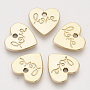 Valentine's Day Theme, Environmental Alloy Pendants, Heart with Word Love, Light Gold, 16.5x17x2mm, Hole: 1.8mm
