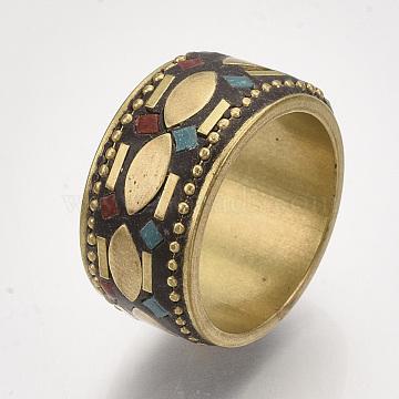 Colorful Brass Finger Rings