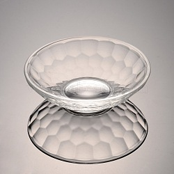 Faceted Bowl Glass Jewelry Displays, Clear, 95x28mm(ODIS-O001-B01)