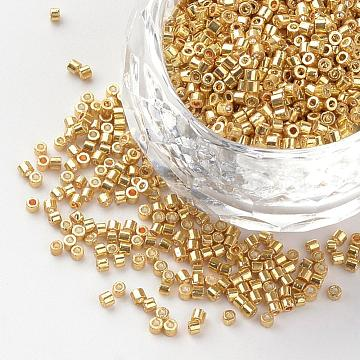 50g High Quality Metallic Colour Plated Round Glass Seed Beads Size 2mm//3mm//4mm