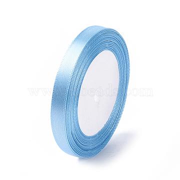 Garment Accessories 3/8 inch(10mm) Satin Ribbon, Sky Blue, 25yards/roll(22.86m/roll)(X-RC10mmY065)