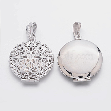 Platinum Round Brass Pendants