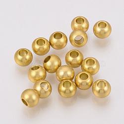 Eco-Friendly Aluminum Beads, Laser Cut Beads, Rondelle, Gold, 7x5.5mm, Hole: 3mm(ALUM-Q001-69A)