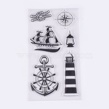 Silicone Stamps, for DIY Scrapbooking, Photo Album Decorative, Cards Making, Navigation Theme, Clear, 24~96x20~69mm(X-DIY-L010-Y30)