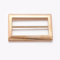 Boucles en alliage, rectangle, or, 61x40x3mm, Trou: 11.5x50mm(PALLOY-WH0059-01F-G)