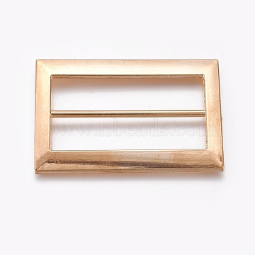 Alloy Buckles, Rectangle, Golden, 61x40x3mm, Hole: 11.5x50mm(PALLOY-WH0059-01F-G)
