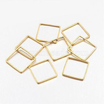 Square Brass Linking Rings, Golden, 10x10x1mm(X-EC03010mm-G)