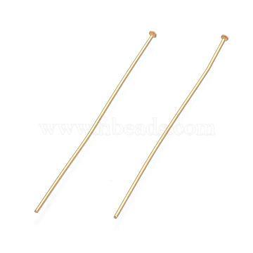 304 Stainless Steel Flat Head Pins, Golden, 50x1.7x0.7mm(X-STAS-L221-48G)