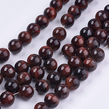 8mm CoconutBrown Round Tiger Eye Beads