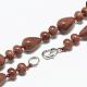 Synthetic Goldstone Beaded Necklaces(NJEW-S389-08)-2