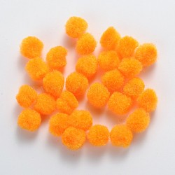 Poupée bricolage artisanat pom pom boules de pom pom, orange, 30mm, environ 500 pcs / sachet (AJEW-S006-30mm-05)