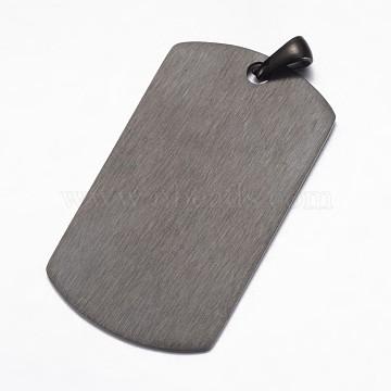 Gunmetal Rectangle Stainless Steel Pendants