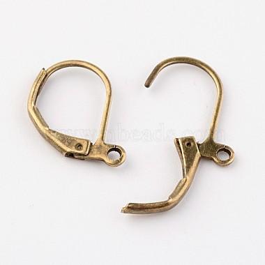 Antique Bronze Brass Leverback Earring Findings(X-EC223-NFAB)-2