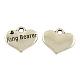 Tibetan Alloy Heart Carved Word Ring Bearer Wedding Charms Rhinestone Settings(X-TIBEP-GC222-AS-RS)-1