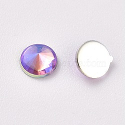 acrylique strass dos plat, ab couleur, cône, coloré, 4.5x2.5 mm; sur 100 PCs / sac(OACR-WH0003-05A-03)