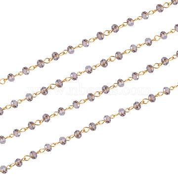 Gray Iron+Glass Handmade Chains Chain