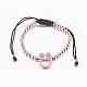 Adjustable Environmental Brass Braided Beaded Bracelets(BJEW-F282-01-RS)-2