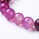 Bracelets extensibles avec perles en agate rayée naturelle/agate bandée(BJEW-I254-12mm-10)-3