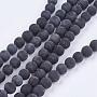 8mm Black Round Black Stone Beads(X-G-R193-01-8mm)