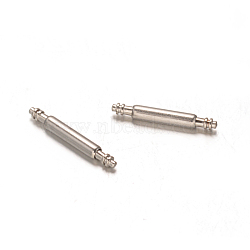 Stainless Steel Double Flanged Spring Bar Watch Strap Pins, Stainless Steel Color, 10.5x1.3mm(STAS-M231-01)