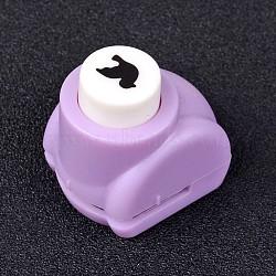 Kits de perforateurs en plastique multicolores de couleur aléatoire ou de couleurs mélangées aléatoires pour scrapbooking & artisanat en papier, shapers de papier, oiseau, 33x26x32mm(AJEW-L051-05)