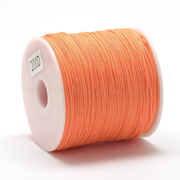 Polyester Cords, DarkOrange, 0.8mm; about 120~130m/roll(OCOR-Q037-26)