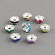 Brass Grade A Rhinestone Bead Spacers(X-RB-S033-A)-1