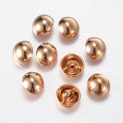 Boutons en alliage, 1-trou, dôme / demi-rond, or clair, 12.5x10mm, Trou: 1.5mm(BUTT-D054-12.5mm-06KCG)