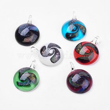 Handmade Dichroic Glass Pendants(DICH-X021-M-B)-2