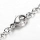 304 Stainless Steel Heart Charm Bracelets(BJEW-L567-02P)-3
