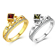 Trendy Brass Cubic Zirconia Finger Rings(RJEW-BB20676-G-8)-2