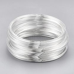 fil à mémoire, acier, couleur argentée, 5.5 cm, fil: calibre 18, 1.0 mm, 700 cercles / 1000 g(MW5.5CM-S)