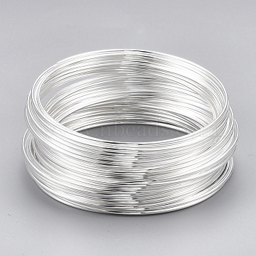 Memory Wire,Steel,Silver Color Plated,2-1/8 inches(5.5cm), Wire: 1mm(18 Gauge), about 912 circles/1000g(MW5.5CM-S)