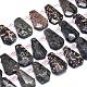 Natural Snowflake Obsidian Beads Strands(G-O179-I14)-1