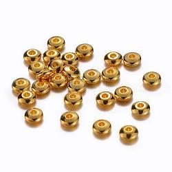 Laiton doré rondelle séparateurs perles, 5x2mm, Trou: 1~1.5mm(X-KK-E246-G)