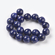 Natural Lapis Lazuli Beads Strands(G-G087-10mm)-2