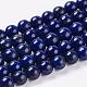 Natural Lapis Lazuli Beads Strands(G-G087-6mm)-1