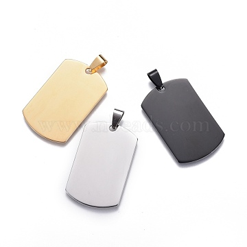 Mixed Color Rectangle Stainless Steel Big Pendants