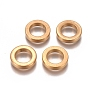 304 Stainless Steel Beads, Ring, Golden, 10x2mm, Hole: 6.5mm