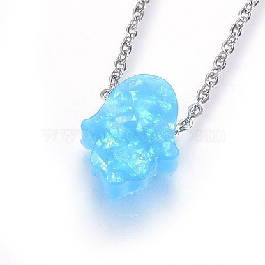 304 Stainless Steel Pendant Necklaces(NJEW-H491-04G)-2