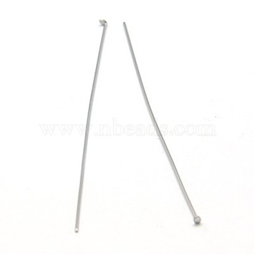 Jewelry Tools and Equipment Decorative Stainless Steel Flat Head Pins, 50x0.6mm(X-STAS-E023-0.6x50mm)