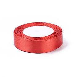 """Ruban de satin rouge pour les accessoires de cheveux de bricolage, environ 1"""" (25mm) de large, 25yards / roll (22.86m / roll)(X-RC25mmY026)"""