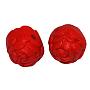 11mm Red Oval Cinnabar Beads(X-CARL-P016-1)