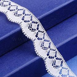 """Fil de nylon de garniture de dentelle pour la fabrication de bijoux, blanc, 3/4"""" (19 mm)(X-OCOR-I001-033)"""