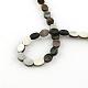 Oval Black Lip Shell Beads Strands(SSHEL-F290-34)-2