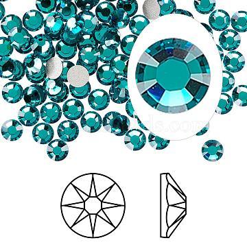 Austrian Crystal Rhinestone Cabochons, Crystal Passions, Foil Back, Xirius Rose, 2088, 229_Blue Zircon, 6.32~6.5mm(2088-SS30-229(F))