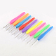 Aluminum Crochet Hooks with Rubber Handle Covered(TOOL-R094)-1
