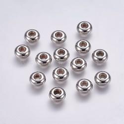 CCB perles en plastique, rondelle, platine, 10x5mm, Trou: 4mm(CCB-G006-155P)