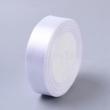 1 inches(25mm) White Satin Ribbon Wedding Sewing DIY, 25yards/roll(22.86m/roll)(X-RC25mmY001)