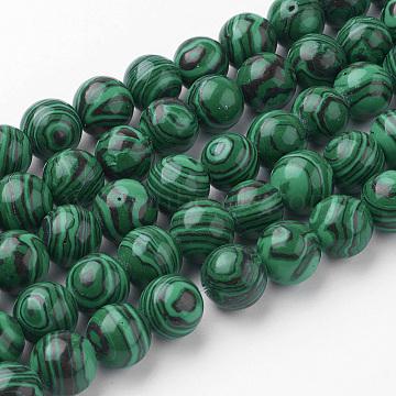 10mm Round Malachite Beads